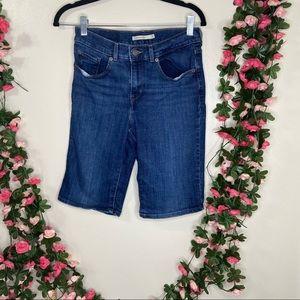 Levi's Bermuda Shorts Blue Jeans Womens 27 Casual